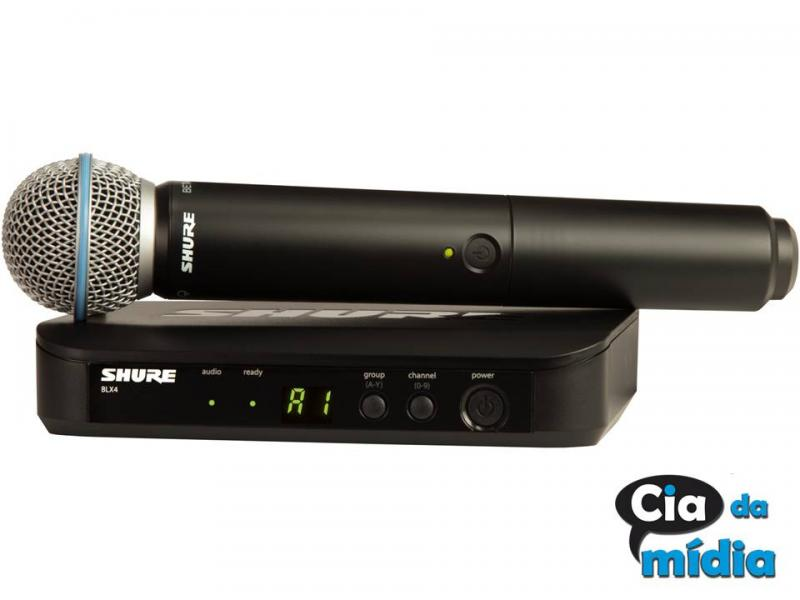 Cia da Mídia - Microfone de Mão sem Fio