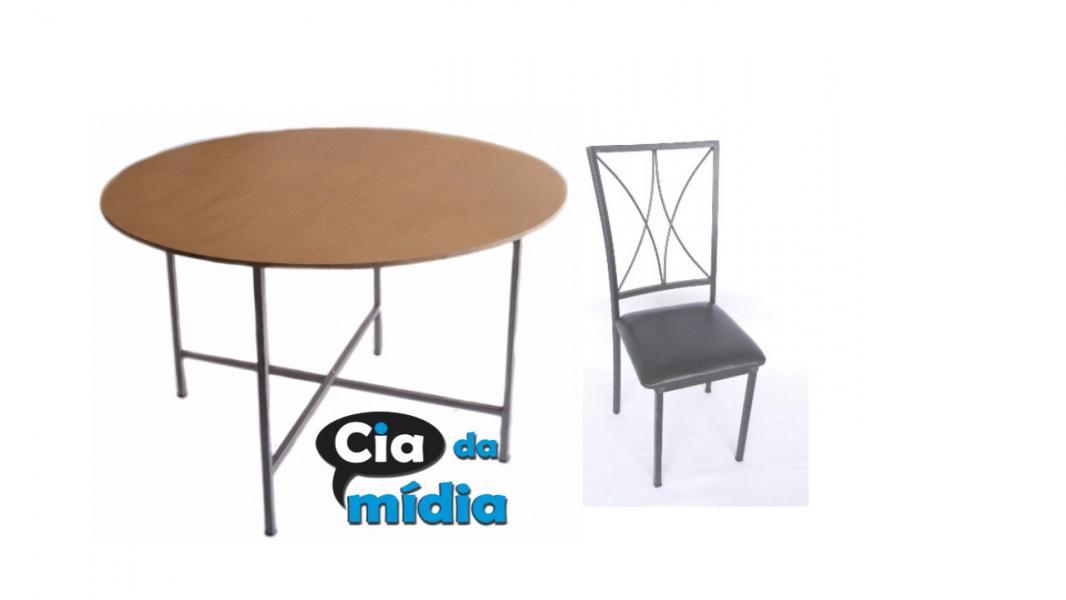 Cia da Mídia - Mesas e Cadeiras em Ferro