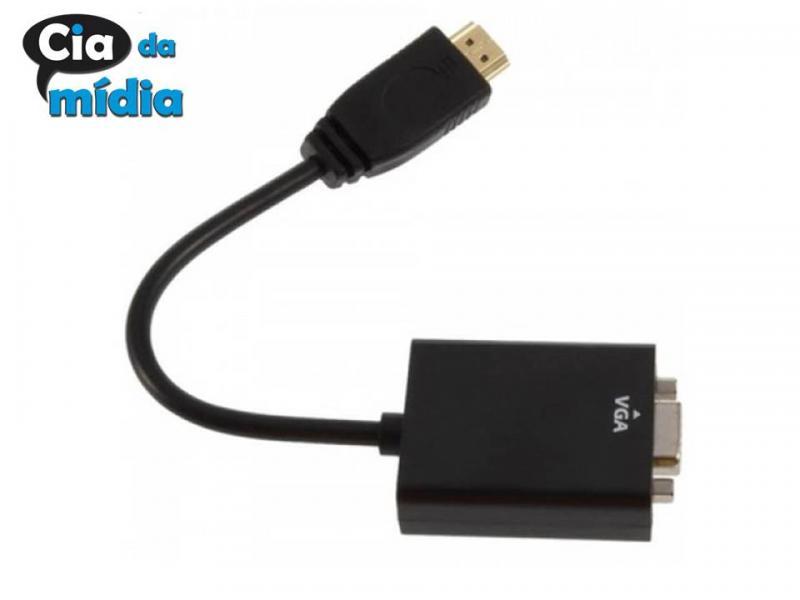 Cia da Mídia - Cabo Conversor VGA para HDMI
