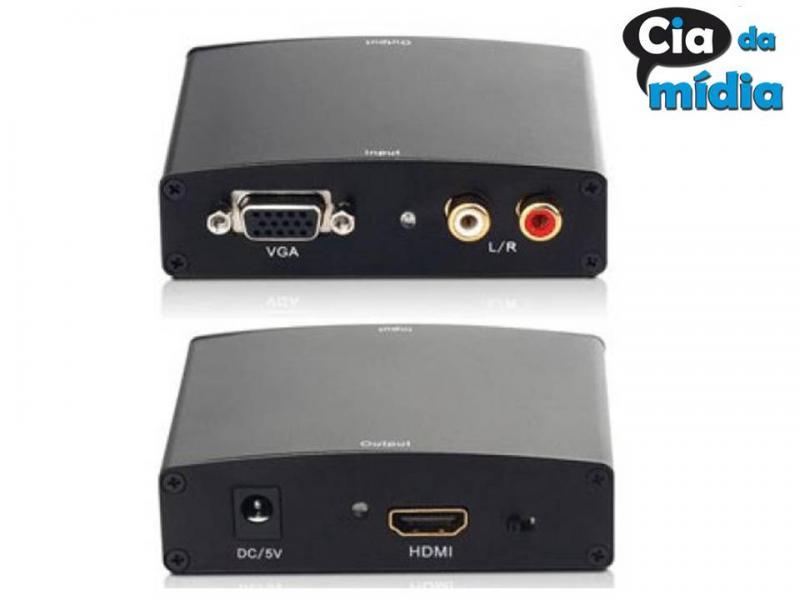 Cia da Mídia - Conversor HDMI para VGA