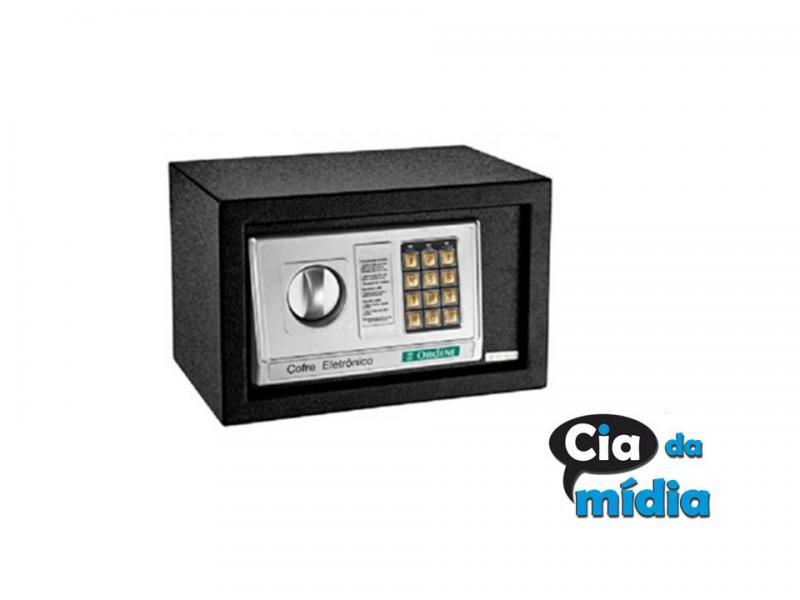 Cia da Mídia - Cofre Eletrônico Digital 20 x 20 x 31cm