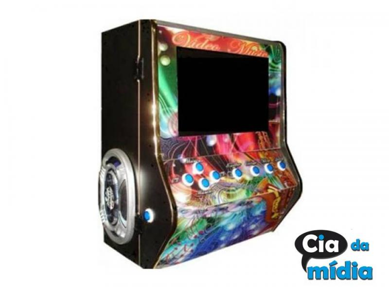 Cia da Mídia - Máquina de Música de chão Pequena (48X60X150) CM