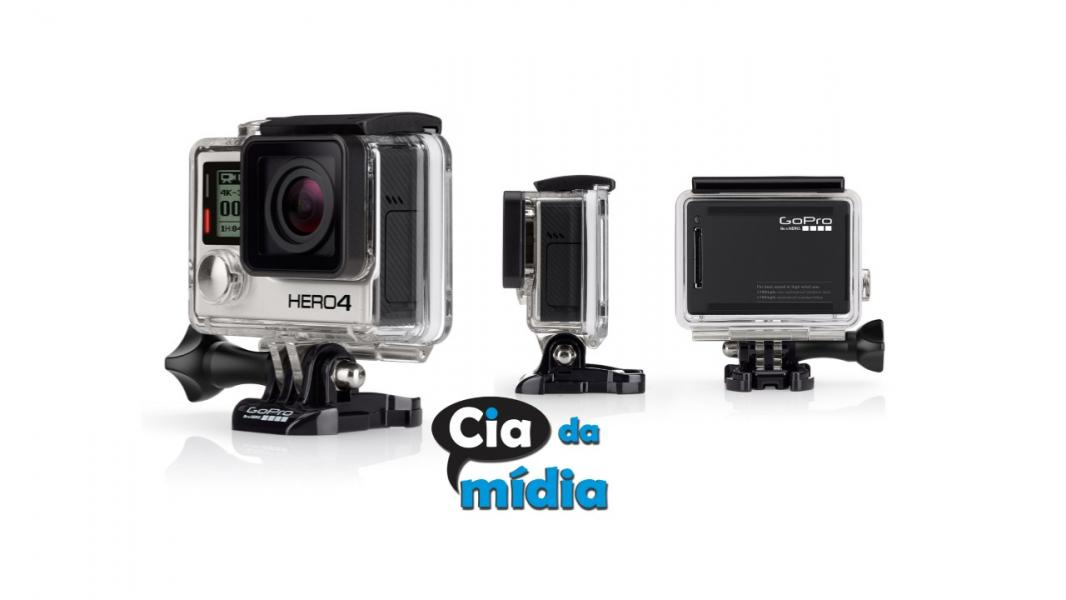 Cia da Mídia - Câmera Digital e Filmadora GoPro Hero4 Black Edition Adventure.