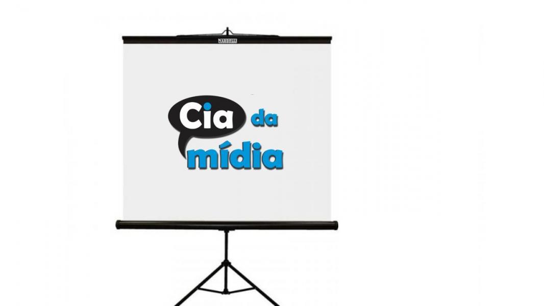 Cia da Mídia - Tela Tripé para Projeção